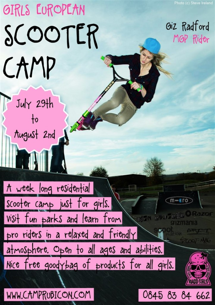 Girls Scooter Camp Poster 1.0